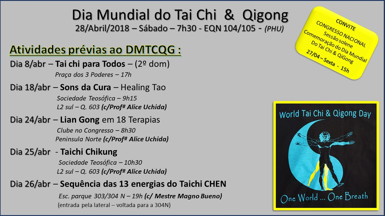 Convite Dia Mundial de Tai Chi e pre atividades